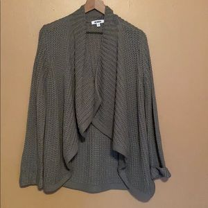 Super Soft Gray Knit Cardigan from Anthropologie